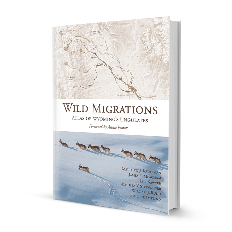 An photograph of the book: Wild Migrations: Atlas of Wyoming's Ungulates