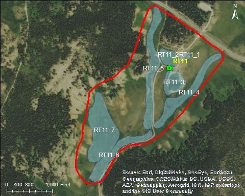 Map of Muddy Creek Catchment